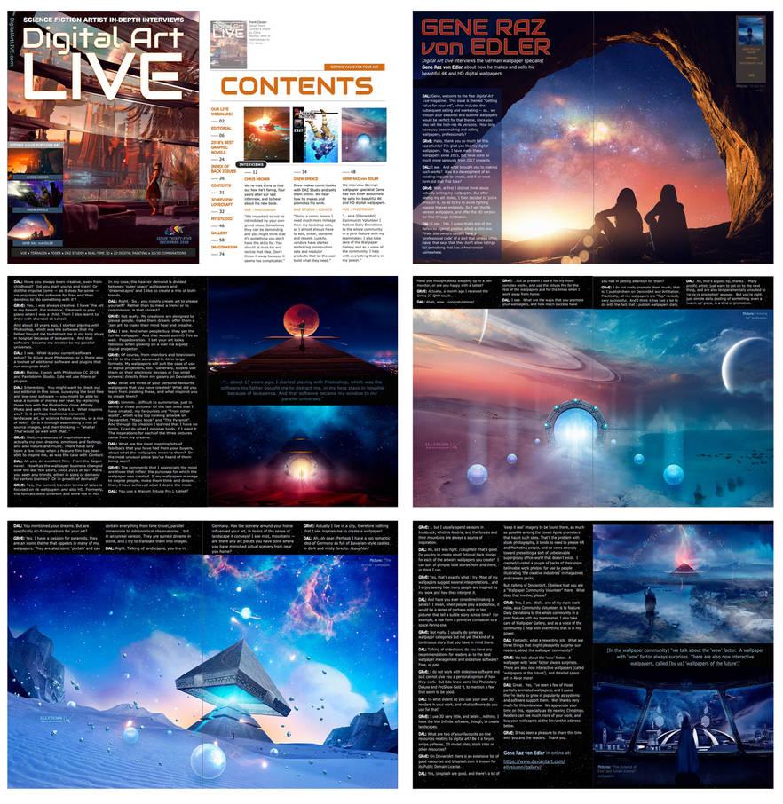 Digital Art Live magazine interview by Ellysiumn