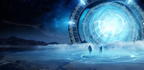 Intergalactic Gate by Ellysiumn