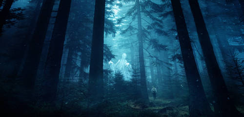 Ghost forest by Ellysiumn