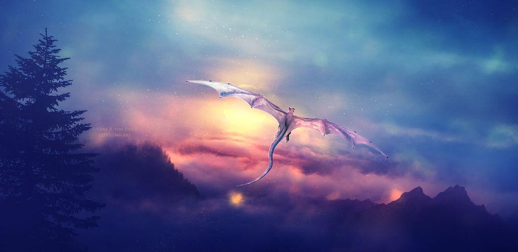 The last dragon by Ellysiumn