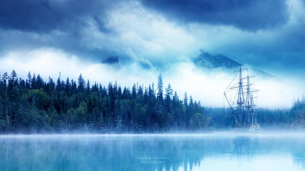 Sailing through the fog by Ellysiumn