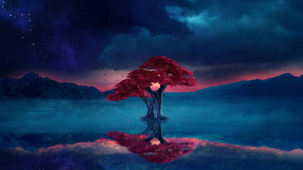Magical Red Tree