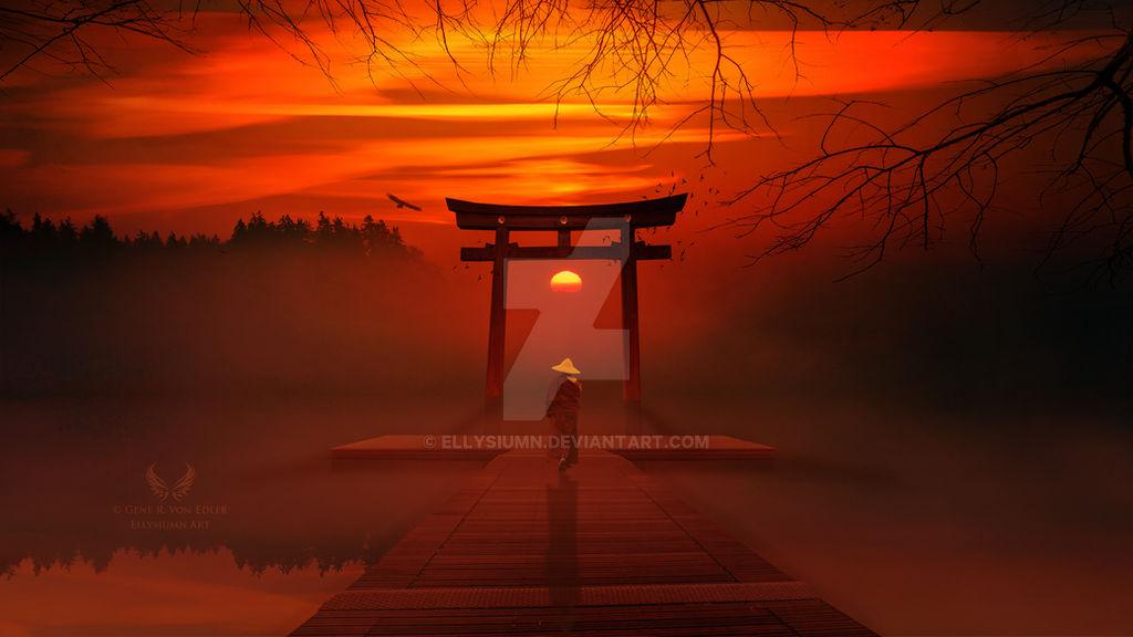 The flaming zen sunset