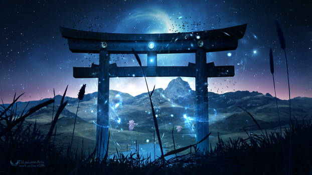 The giant Torii Gate by Ellysiumn