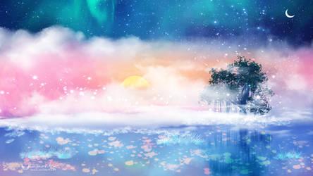 Clouds island by Ellysiumn