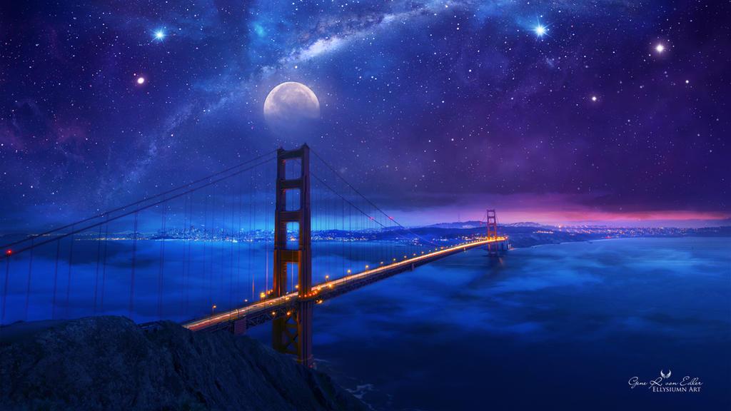 Звёздное небо и космос в картинках - Страница 19 Golden_gate_bridge_by_ellysiumn_dd4ucq4-fullview.jpg?token=eyJ0eXAiOiJKV1QiLCJhbGciOiJIUzI1NiJ9.eyJzdWIiOiJ1cm46YXBwOjdlMGQxODg5ODIyNjQzNzNhNWYwZDQxNWVhMGQyNmUwIiwiaXNzIjoidXJuOmFwcDo3ZTBkMTg4OTgyMjY0MzczYTVmMGQ0MTVlYTBkMjZlMCIsIm9iaiI6W1t7ImhlaWdodCI6Ijw9NTc2IiwicGF0aCI6IlwvZlwvZmFhNDhkMmQtMTJjMi00M2QxLWJmMjMtYjVlOTk4NTc4MjViXC9kZDR1Y3E0LTNiYTNjMzJlLWJjNmMtNDFlMS1hMTEwLThjNzIwYjk1MDViMS5qcGciLCJ3aWR0aCI6Ijw9MTAyNCJ9XV0sImF1ZCI6WyJ1cm46c2VydmljZTppbWFnZS5vcGVyYXRpb25zIl19