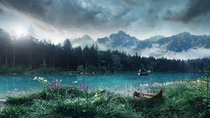 The fisherman of the lake by Ellysiumn