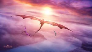Sunset Dragons