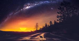 Alone at nightfall by Ellysiumn