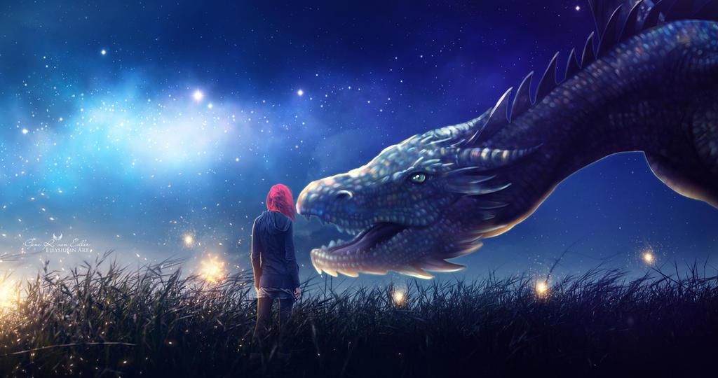 My rainbow dragon by Ellysiumn