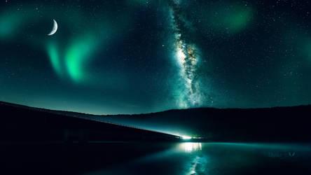 Emerald night by Ellysiumn