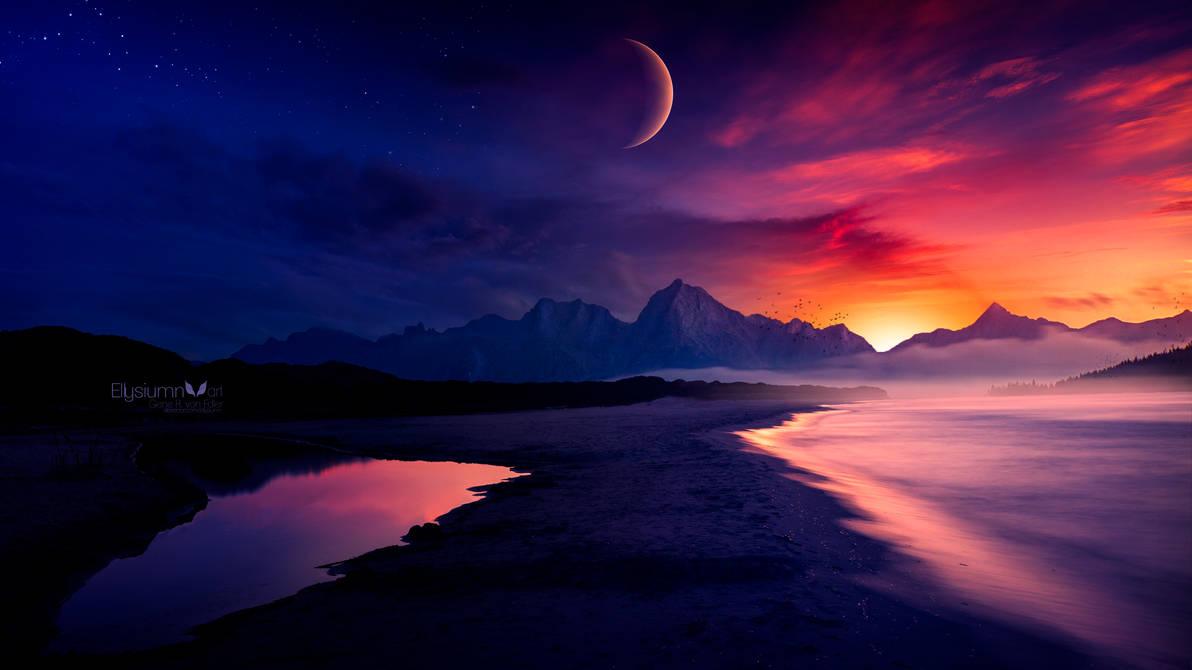 Звёздное небо и космос в картинках - Страница 25 Eternal_twilight_by_ellysiumn_dd8m83f-pre.jpg?token=eyJ0eXAiOiJKV1QiLCJhbGciOiJIUzI1NiJ9.eyJzdWIiOiJ1cm46YXBwOjdlMGQxODg5ODIyNjQzNzNhNWYwZDQxNWVhMGQyNmUwIiwiaXNzIjoidXJuOmFwcDo3ZTBkMTg4OTgyMjY0MzczYTVmMGQ0MTVlYTBkMjZlMCIsIm9iaiI6W1t7ImhlaWdodCI6Ijw9NzIwIiwicGF0aCI6IlwvZlwvZmFhNDhkMmQtMTJjMi00M2QxLWJmMjMtYjVlOTk4NTc4MjViXC9kZDhtODNmLTk4MDhkYmRjLTg1YTctNGI4ZC05ODgxLTFhMTJmZGRlNzVmMi5qcGciLCJ3aWR0aCI6Ijw9MTI4MCJ9XV0sImF1ZCI6WyJ1cm46c2VydmljZTppbWFnZS5vcGVyYXRpb25zIl19