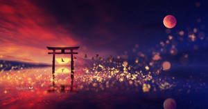 The Sunset Torii by Ellysiumn