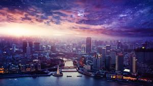 Vibrant city by Ellysiumn