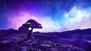 The purple Tree by Ellysiumn