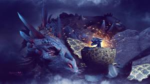 The dragon birth by Ellysiumn