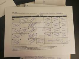 My monthly work in DeviantArt