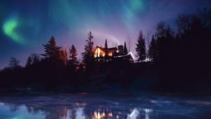 Frozen lake by Ellysiumn