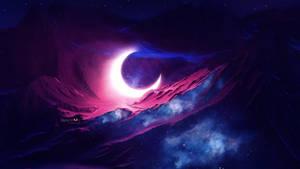 Fallen moon by Ellysiumn