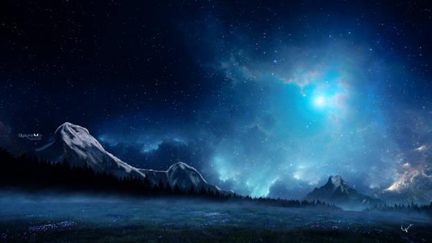 Starry winter night
