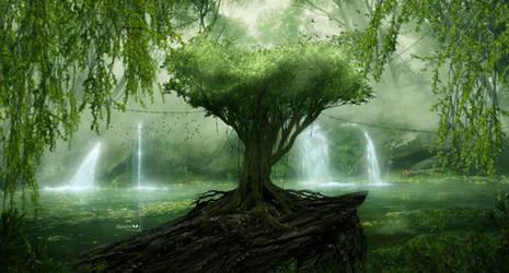 Waterfalls of light