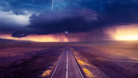 Stormy landing by Ellysiumn