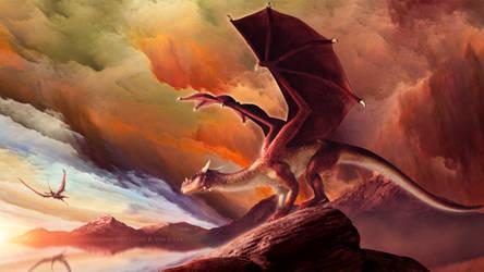 Guardian Dragon by Ellysiumn