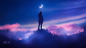 Thoughts under moon