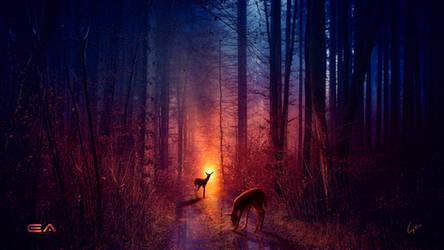 The deer path by Ellysiumn