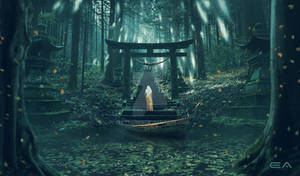 Entrance to the sacred forest
