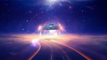 Space runway by Ellysiumn