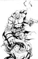 Hellboy inks by benjonesart