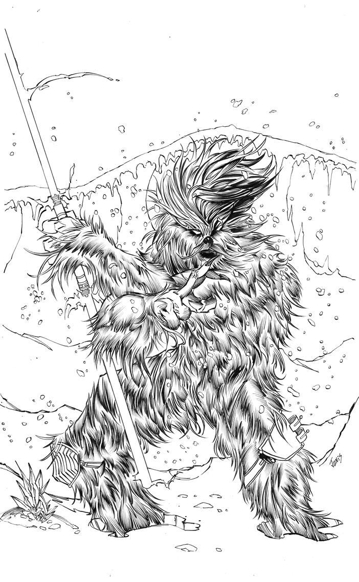 Jedi Wookie by benjonesart