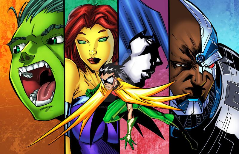 The real Teen Titans by benjonesart