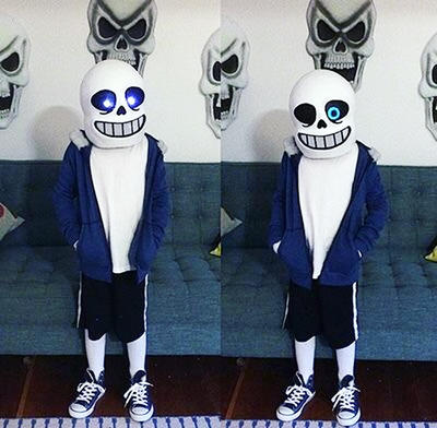 Sans mask with lights by Meltasers