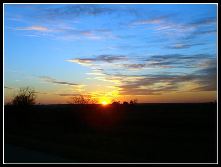 The Blue Sunset by jasonksmith