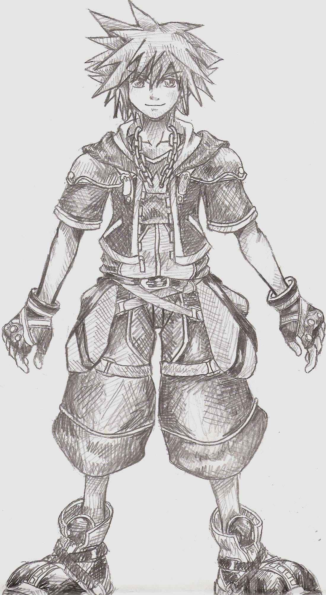 Kingdom Hearts Drawings Riku 53232 Loadtve