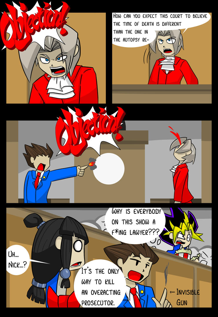 Phoenix Wright Comic by DukeStewart