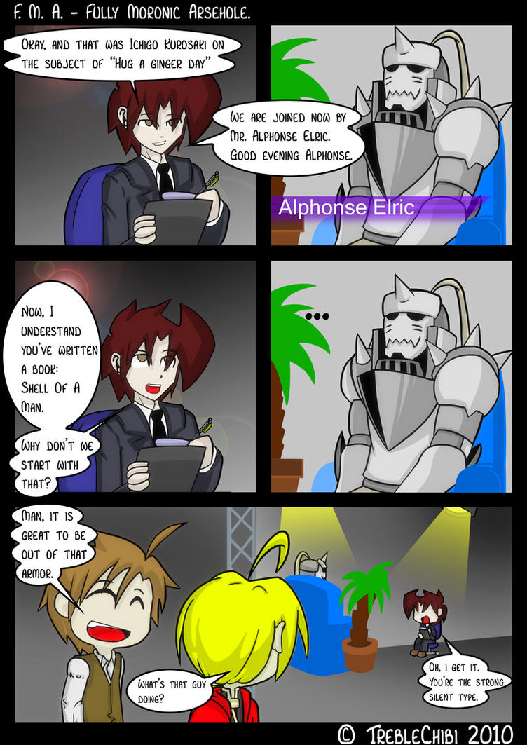 Interview With Alphonse Elric by DukeStewart
