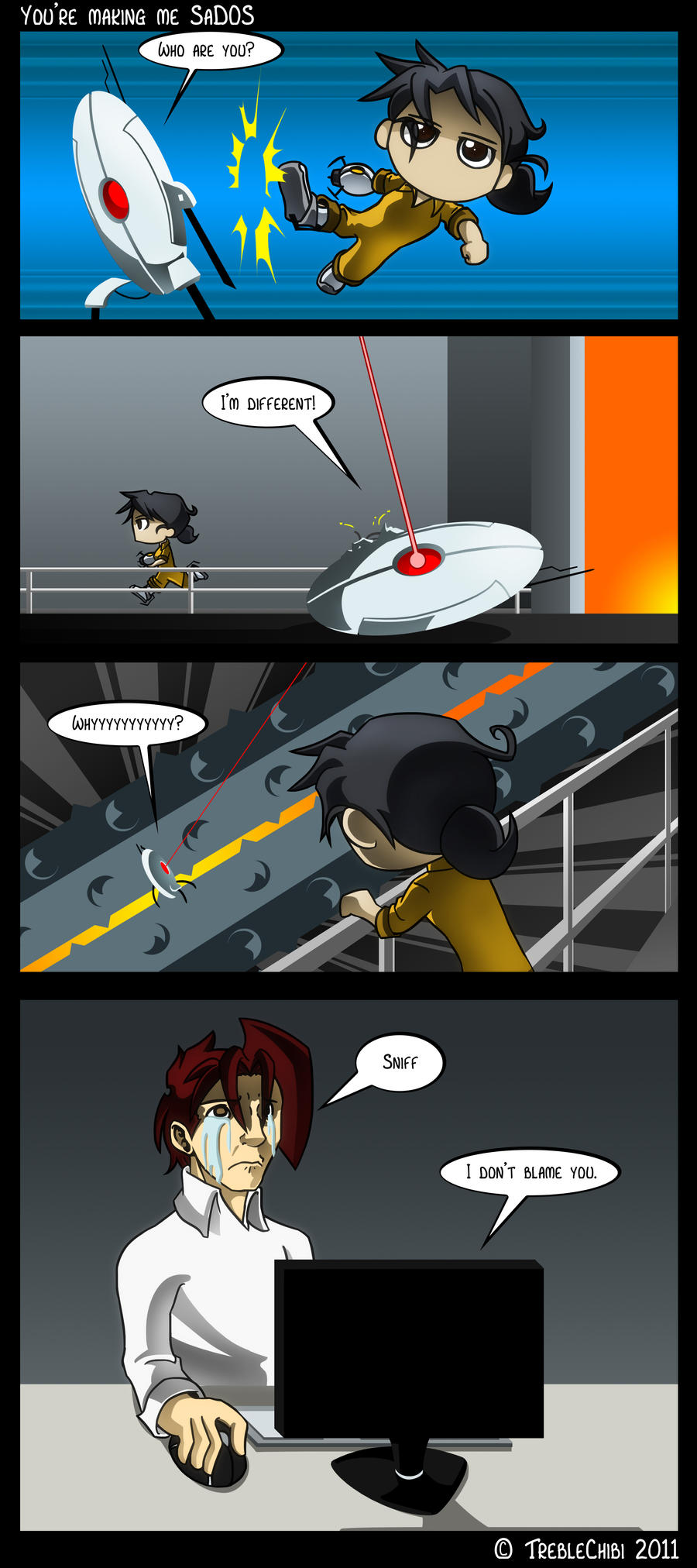 Portal - Turret Trouble by DukeStewart