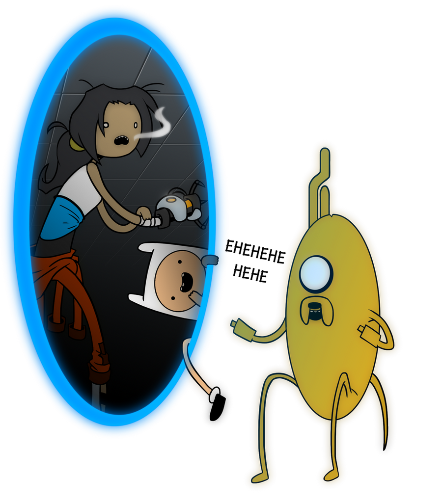 Adventure Time Thinks With Portals by DukeStewart