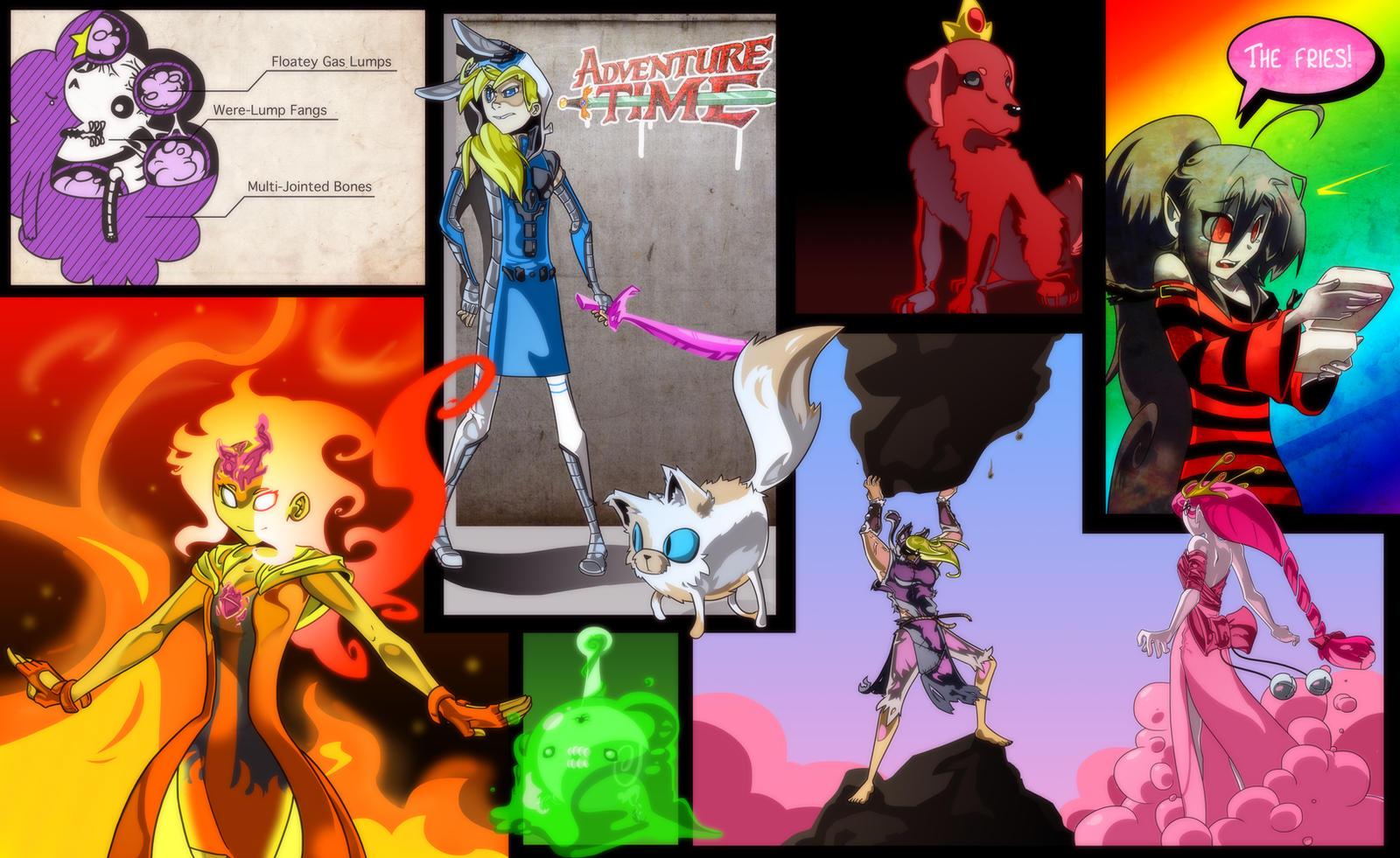 Adventure Time Ladies by DukeStewart