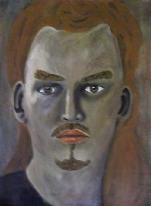 Oil Self Portrait by DougBaltz