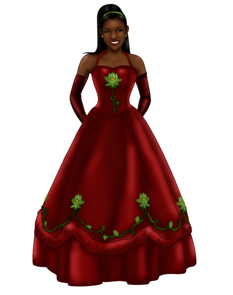 Tiana Christmas Gown by FalseDisposition on DeviantArt