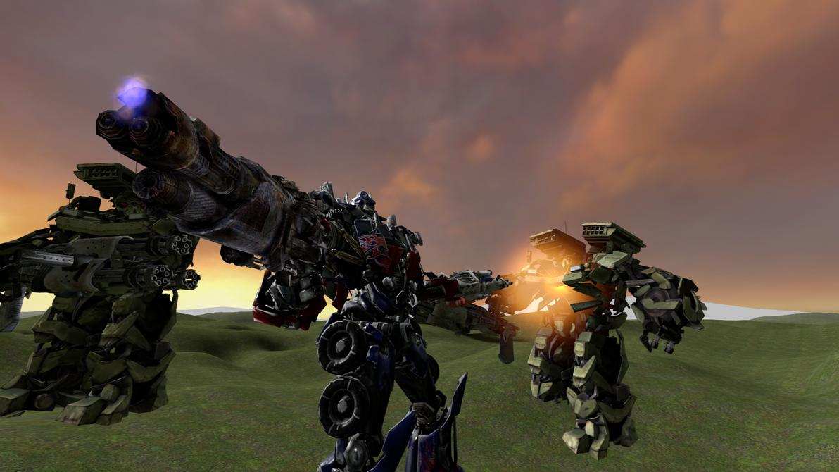 Optimus Prime Ion Blaster test by MaddogSamureye