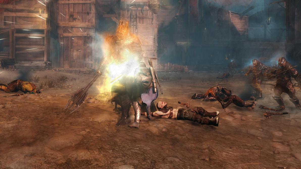 Shadow of Mordor: Two Lords Clash by MaddogSamureye