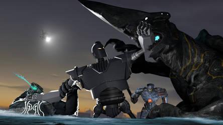 [SFM] The Iron Giant v. Pacific Rim Kaiju