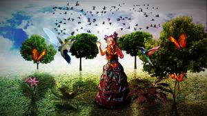 Girl in Nature by suedseeengel