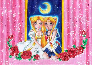 Serenity vs. Sailor Moon by Kamihana86