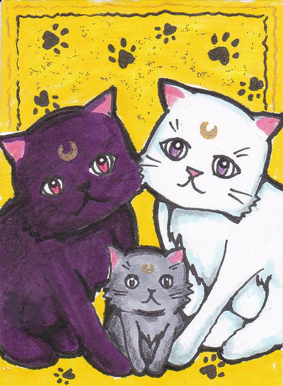 Luna, Artemis und Diana (Sailor Moon)